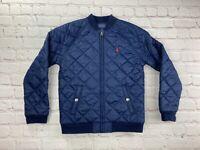 Polo Ralph Lauren Quilted Jacket Corduroy Navy BOYS Sz 7 puffer EUC