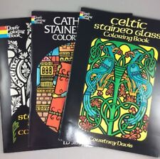 Dover Coloring Books Stained Glass Coloring Book Collection