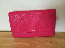 NWT COACH Madison Embossed Crosstown Shoulder Bag Pink Ruby Leather # 51556