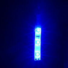 2 x Non Waterproof DIY BLUE 12 Volt 3 LED Self Adhesive Light Strips