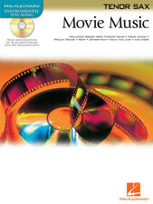 Movie Music for Tenor Sax Solo Sheet Music 15 Hit Songs Play-Along Book CD NEW