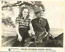 """OLIVIA DE HAVILLAND & ERROL FLYNN in """"Dodge City"""" Original Vintage Photo 1939"""