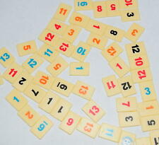 Rummikub Travel Board Game Replacement Tiles Craft Pieces Parts 1999 Pressman