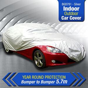 BGD781 Silver Polycanvas Car Cover for Rolls Royce Ghost 2013-2016 Sedan