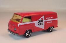 Majorette 1/60 Nr. 244 VW Volkswagen T2 Fourgon Kasten rot Cafe Hag Nr. 7 #868