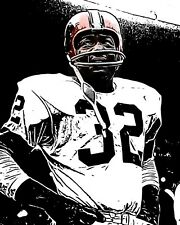 Awesome Jim Brown Cleveland Browns 8x10 Graphic Print