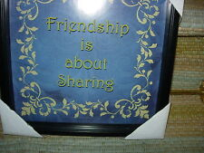 WOOD SHADOW BOX --FRIENDSHIP IS ABOUT SHARING--REDUCED---#Y7