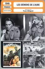 LES DEMONS DE L'AUBE - Marchal,Carmet,Allégret (Fiche Cinéma) 1946 - Dawn Devils