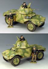 KING & COUNTRY WW2 GERMAN ARMY WS125 PANHARD ARMORED CAR SET