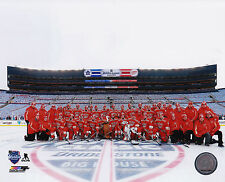 Detroit Red Wings Team Centre Ice 8x10 Photo 2014 NHL Hockey Winter Classic