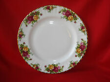 "ROYAL ALBERT OCR/OLD COUNTRY ROSES 10 1/4 "" ROUND DINNER/SERVING PLATE-GOLD TRIM"