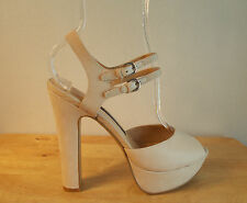French Connection Heels Size 7M Beige Nude Platform Pumps Shoes New