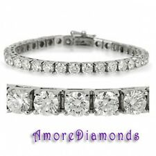 36 ct G SI1 round ideal cut diamond square box 4 prong tennis bracelet platinum
