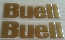 2 Adesivi Resinati Sticker 3D BUELL Serbatoio tutti i colori chiedere prima