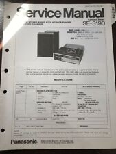 Original Panasonic Technics Model SE-3190 Stereo Turntable Service Manual