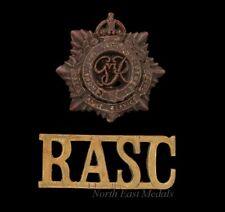 WW2 Plastic Economy Royal Army Service Corps Cap Badge & Shoulder Title