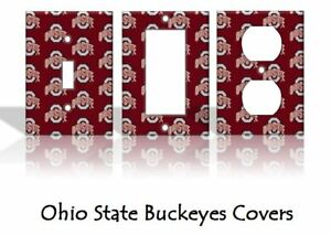 Ohio State Buckeyes Light Switch Covers Football NCAA Home Decor Outlet