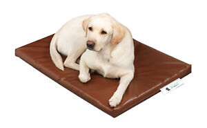 "Dog Bed Cage Crate Matt Chew Resistant Waterproof Tough & Durable Brown 2"" 5cm"