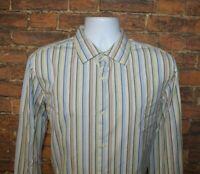 Banana Republic Mens Button Front Shirt Size L Classic Fit Multi Color Striped