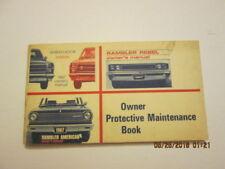 1967  American Motors owner protective maintenance program booklet