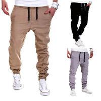 Men's Track Pants Casual Sports Harem Slacks Sweats Gym Trousers Baggy Fashion