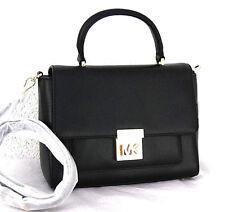 MICHAEL KORS Handtasche Mindy Neu schwarz black Leder Bag Tasche gold Satchel