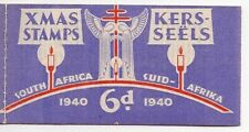 1940 South Africa 6d Xmas Seal Booklet +Mobil Oil Adv.