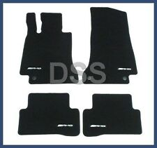 Genuine Mercedes AMG Floor Mat Set Velour Black 4-Piece W205 Carpet Cloth NEW