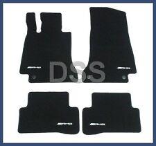 Genuine Mercedes AMG Floor Mat Set Velour Black 4-Piece W205 Carpet Cloth NEW