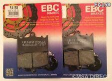 KAWASAKI ZZR1100 (de 1990 a 2001) EBC Kevlar Pastillas De Freno Delantero (FA158) (2 Juegos)