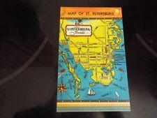Picture Map of St Petersburg Florida Streets Sites + Vintage Postcard d