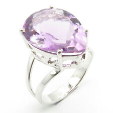 AMETHYST Natural Gemstone 925 Solid Sterling Silver Sz 9.5 Birthday Ring