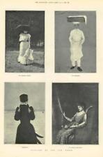 1891 - Antique Print  FINE ART Jan Van Beers Parasol Patissier Frileuse  (251)