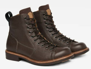 New GSTAR G-STAR RAW Roofer Brown Leather Boots Size 43 #22379