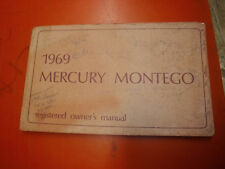 1969 MERCURY MONTEGO MX CYCLONE FACTORY OWNERS MANUAL OPERATORS GUIDE