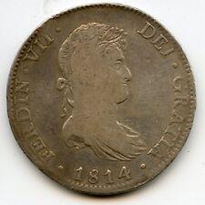 1814 Mexico 8 Reales Ferdinand VII Spanish Silver Dollar Coin - JB215