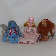 Lot of 3 Wizard of Oz Bean Bag Plush (Cowardly Lion Flying Monkey & Glinda)