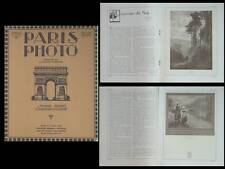 PARIS PHOTO 1923 - REVUE, PICTORIALISME, ALEXANDER KEIGHLEY, EDOUARD PAYOT