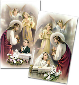 Personalized First Holy Communion Remembrance Prayer Cards Set of 24