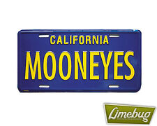 Mooneyes Blue Show Plates Number US California Showplate VW Camper Beetle T1 T2