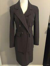 ST. JOHN Size 4 Brown 2 Piece Skirt Suit
