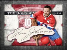 TOM JOHNSON Custom Cut signed autographed card Montreal Canadiens (2)
