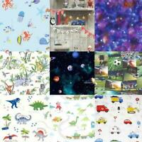 Boys Bedroom Wallpaper 10m - Various Designs Include:Space, Football, Dino, Cars