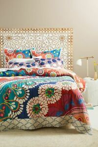 Anthropologie Tahla Printed Queen Quilt - NEW