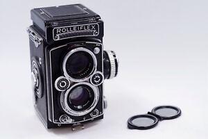 Mint- Rollei Rolleiflex 3.5E 75mm 75/3.5 TLR Film Camera Schneider Xenotar