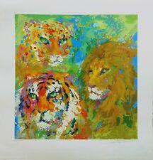 "LEROY NEIMAN ""FAMILY PORTRAIT"" 2005 LION TIGER LEOPARD | SIGNED PRINT | GALLART"