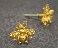 Golden Bee Cabinet Knob | Brass Metal Cupboard Door Handle, Drawer Pull MK-185
