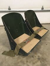 WWII AIRCRAFT BOMBER SEATS - ORIGINAL WOOD WARBIRD FIGHTER SCTA HOT ROD RAT