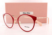 Brand New Miu Miu Eyeglass Frames MU 51PV USS 1O1 GOLD/RED For Women Size 50