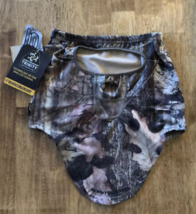 Scentblocker Trinity Technology Mossy Oak Silver Antimicrobial 3/4 Facemask NEW